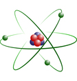 Lithium Atom Model vector image vector image