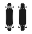 longboards set two styles top and bottom view vector image vector image