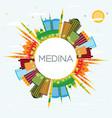 medina saudi arabia city skyline with color vector image vector image