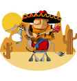 merry mexican vector image vector image