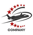 modern airplane logo vector image vector image