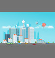 modern city life modern district with vector image vector image