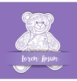 Paper background with toy bear vector image vector image