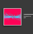 point explode cover design template generative art vector image