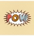 pow comic pop art style vector image vector image