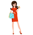 pregnant beauty shopping vector image vector image