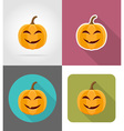 pumpkins for halloween flat icons 01 vector image vector image
