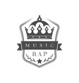 rap music logo vector image vector image