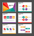 Red green orange purple presentation templates set vector image vector image