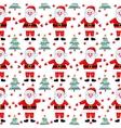 santas seamless pattern vector image vector image