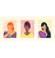 set portraits different gender race and age vector image vector image