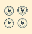 set premium chicken labels badges and design vector image vector image