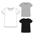 set t-shirt design template isolated on white vector image vector image