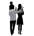 silhouettes of mom and dad with children on vector image vector image