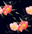 sketched drawing botanical wallpaper for fashion vector image