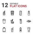 soda icons vector image vector image