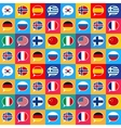 speech bubbles with different countries flags vector image