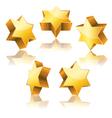 star David gold vector image