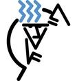 Stick figure climbing vector image vector image