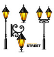 street lamps 3d realisic set collection vector image