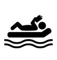 Summer Relax Swim Pictogram Flat People Read Book vector image vector image