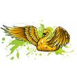 swan symbol or icon vector image
