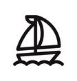 the sail boat icon sailing shipyacht symbol vector image vector image