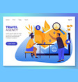 travel agency tours online booking web banner vector image