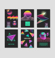 trendy abstract posters set gradients elements vector image