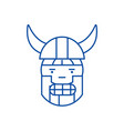 viking emoji line icon concept viking emoji flat vector image vector image