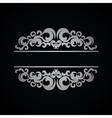 White vintage pattern on dark background vector image