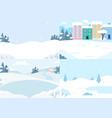 winter landscapes colletion snow season vector image vector image