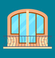 modern residential window with balcony vector image