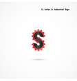 S-letter and gear icon design template vector image