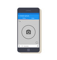 design of the mobile application interface the vector image