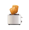 toaster with toast isolated vector image