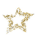 3d golden star banner simple form template card vector image