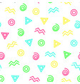 Abstract geometrical color seamless pattern