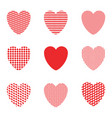 abstract heart background vector image vector image