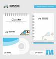 ambulance logo calendar template cd cover diary vector image vector image