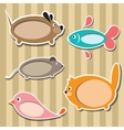animal frames vector image vector image