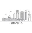 atlanta architecture line skyline vector image vector image