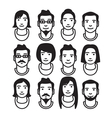 avatar variations2 vector image vector image