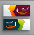 banners for diwali indian festival greeting vector image vector image