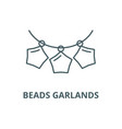 beads garlands line icon beads garlands vector image vector image