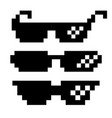 Black pixel glasses thug lifestyle for