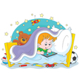 Boy playing on a tablet vector image