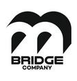 bridge letter b logo vector image vector image