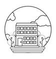 building round icon vector image