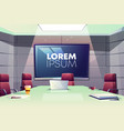 business meeting room in office cartoon vector image vector image